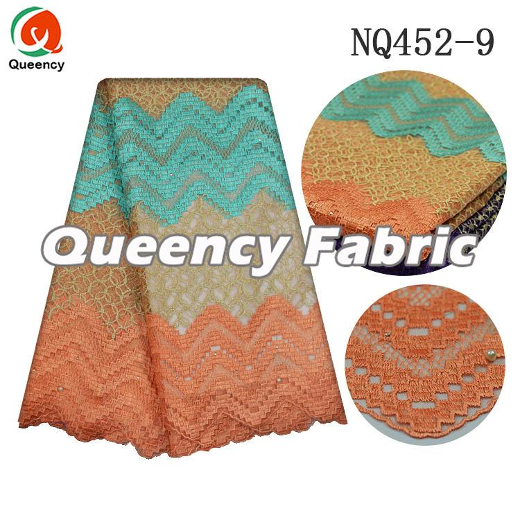 African Lace Frabic In Peach
