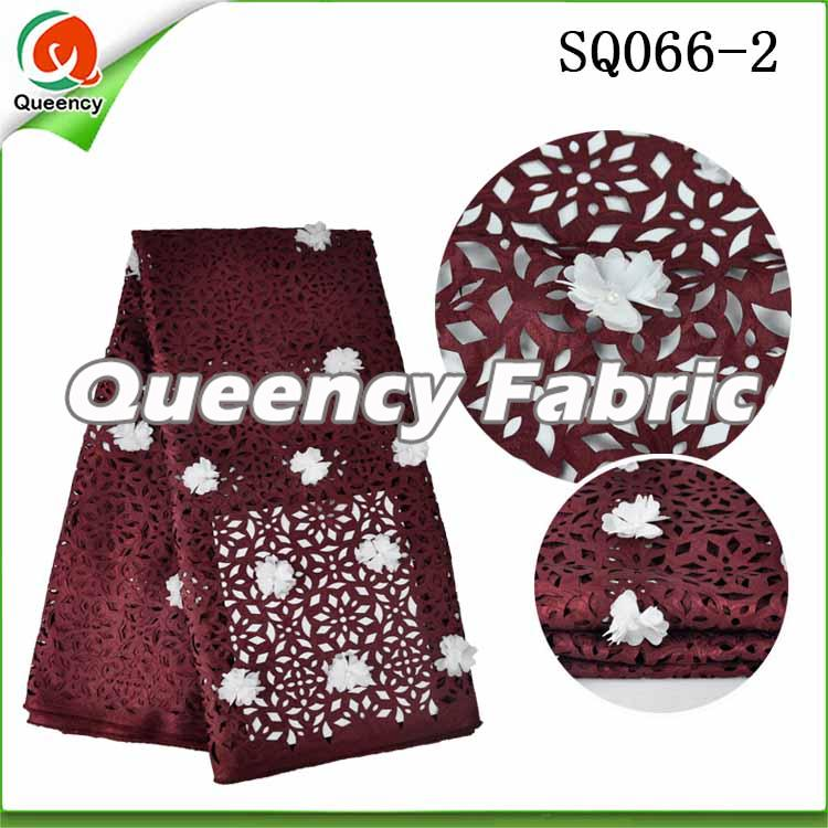 Applique Lace Voile In Wine