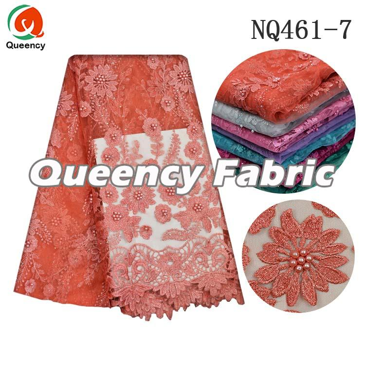 Coral Netting Tulle Lace