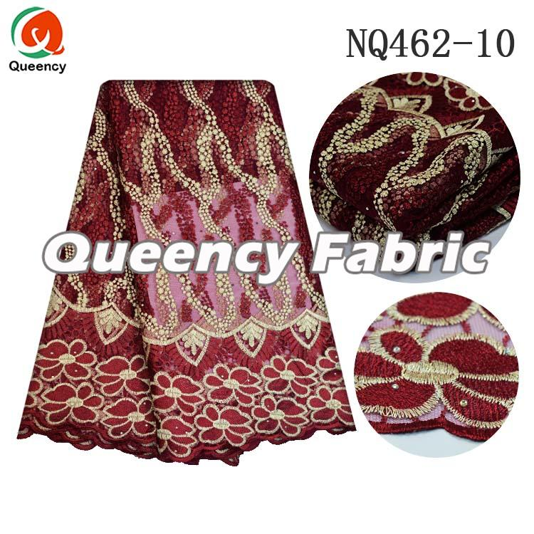 Cotton French Fabric In Wine