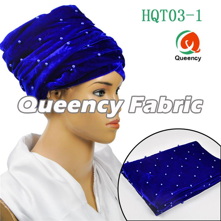 Turbans Velvet In Royal Blue