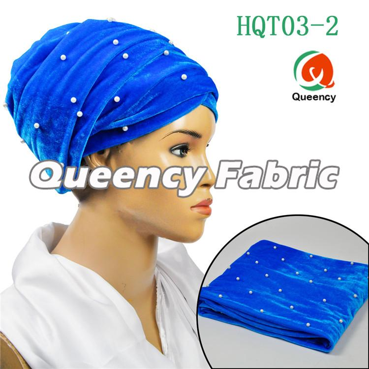 Turquoise Blue Headwrap Turbans