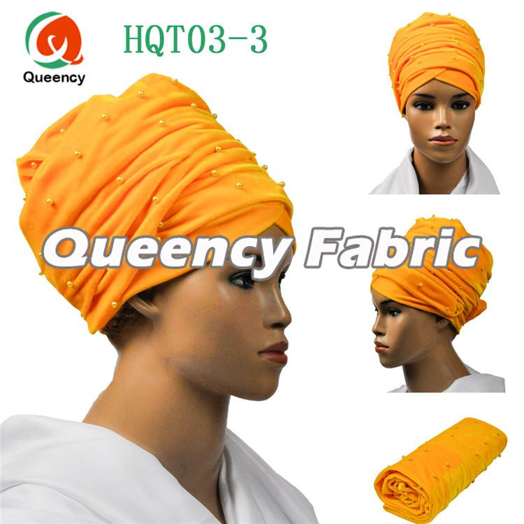 Yellow Head Scarf Beaded Turbans
