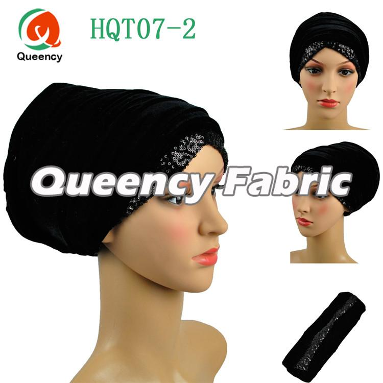 Black Dubai Head Turban Scarf