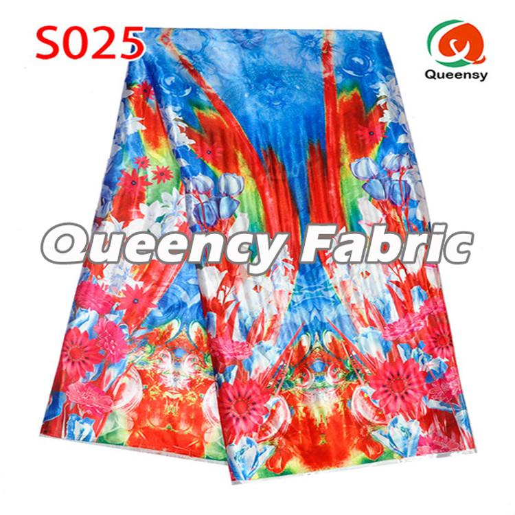 Colorful Satin Soft Fabric