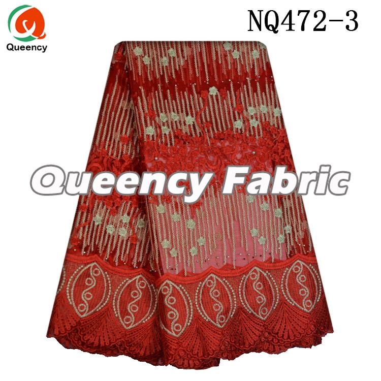Embroidery Netting Fabric Stones Lace