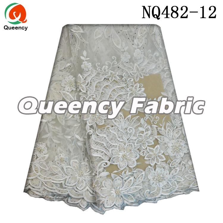 White Wedding Lace Tulle Fabric