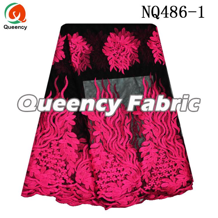 Fushia Netting Lace