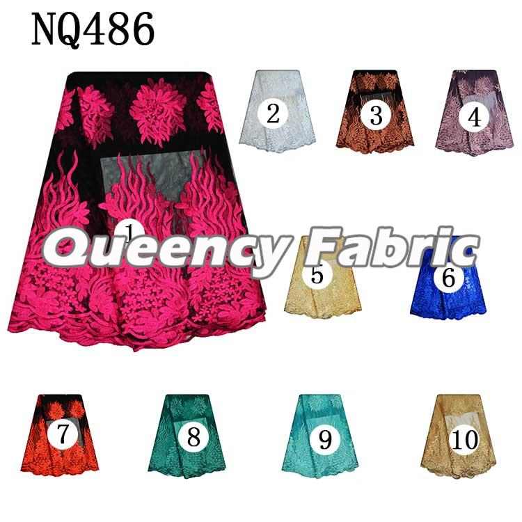 Colorful Lace Tulle Embroidery Fabric