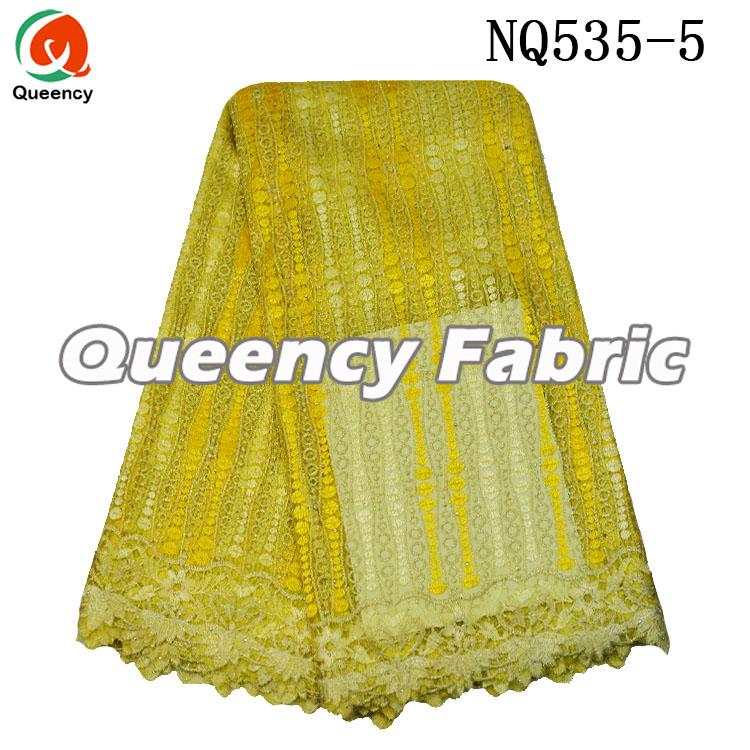 Yellow French Chantilly Lace