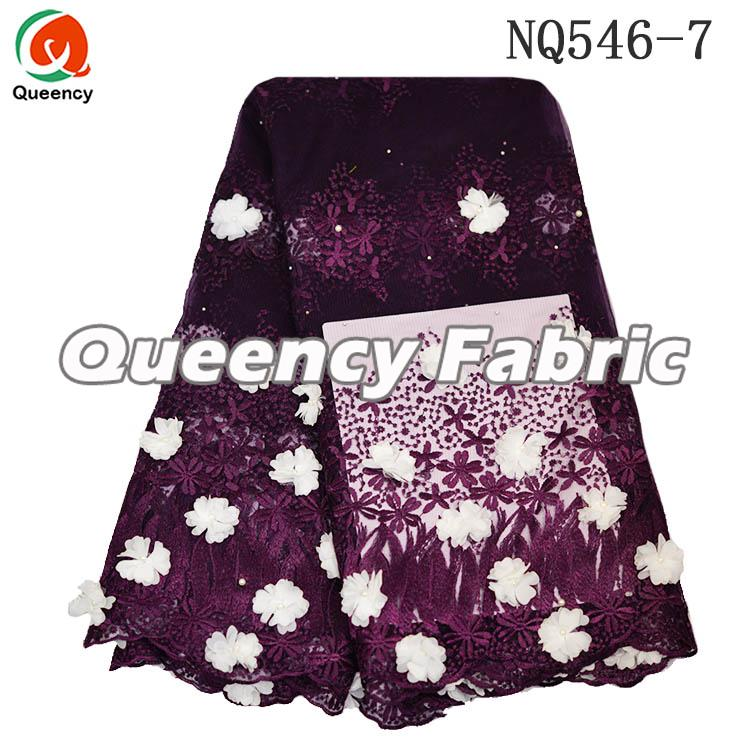 Wine Nigeria Ladies Lace Wedding French Dresses Fabric