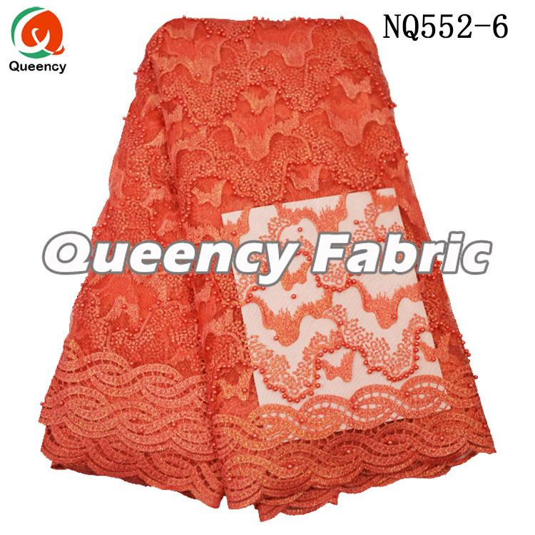 Coral Wedding Lace Dresses Fabric