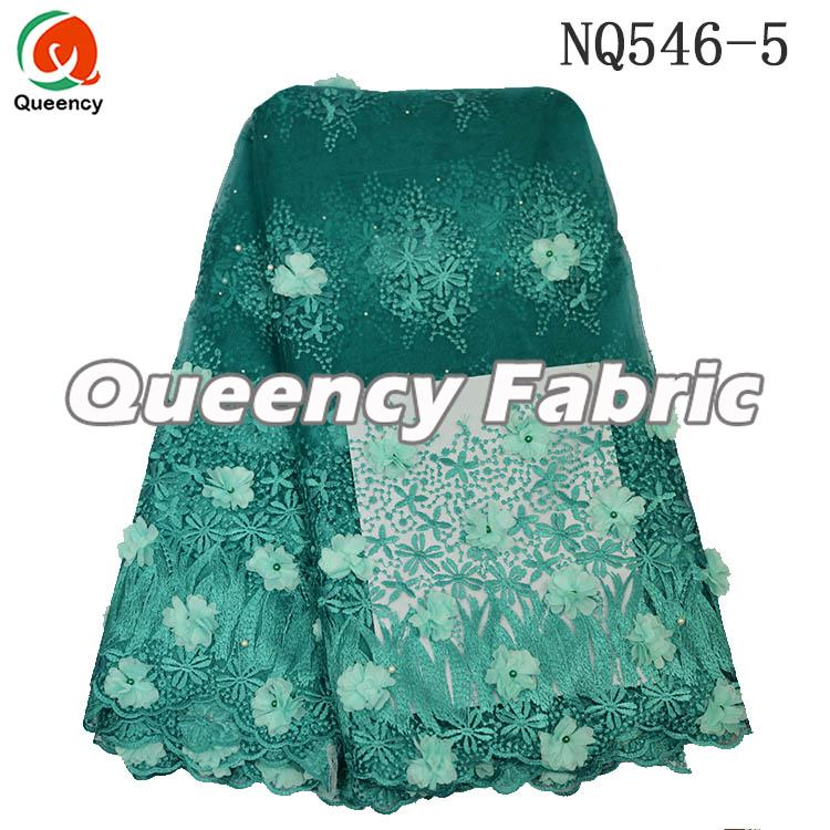 Nigeria Ladies Applique Lace Dresses Fabric