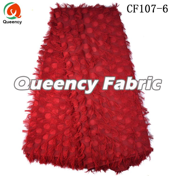Red Chiffon Fabric For Ladies