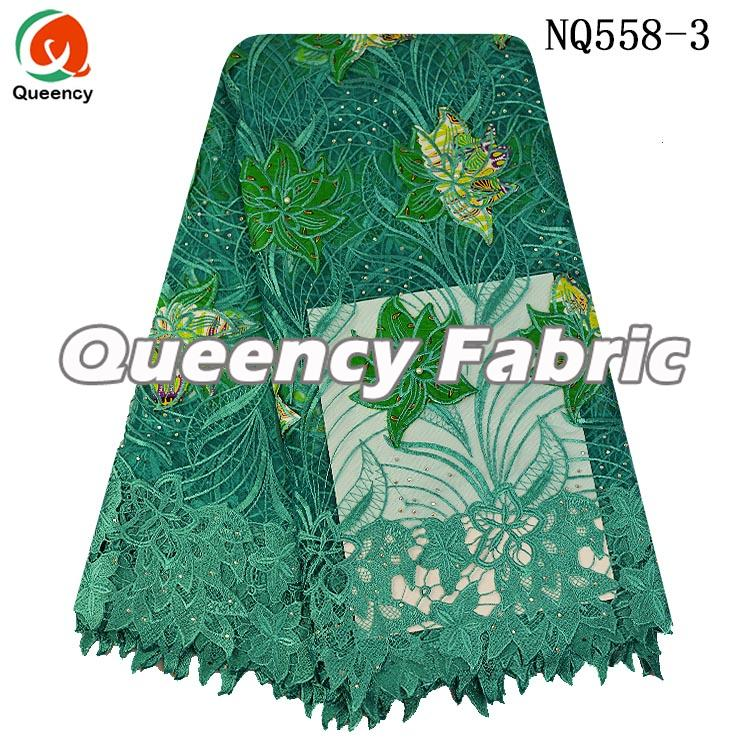 Green Lace Tulle Fabric For Wedding