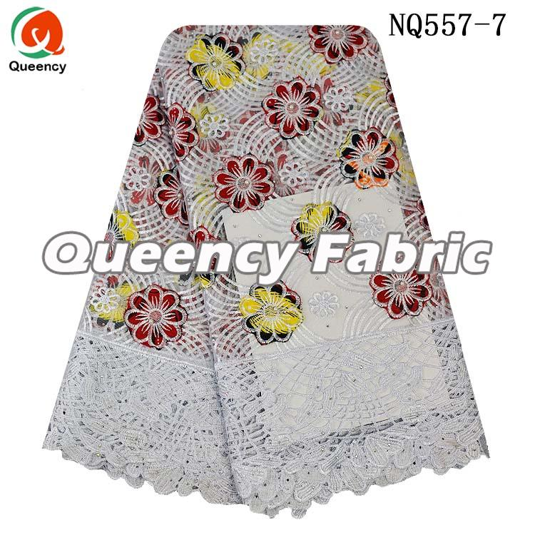 French Lace Ladies Dresses Embroidered Material