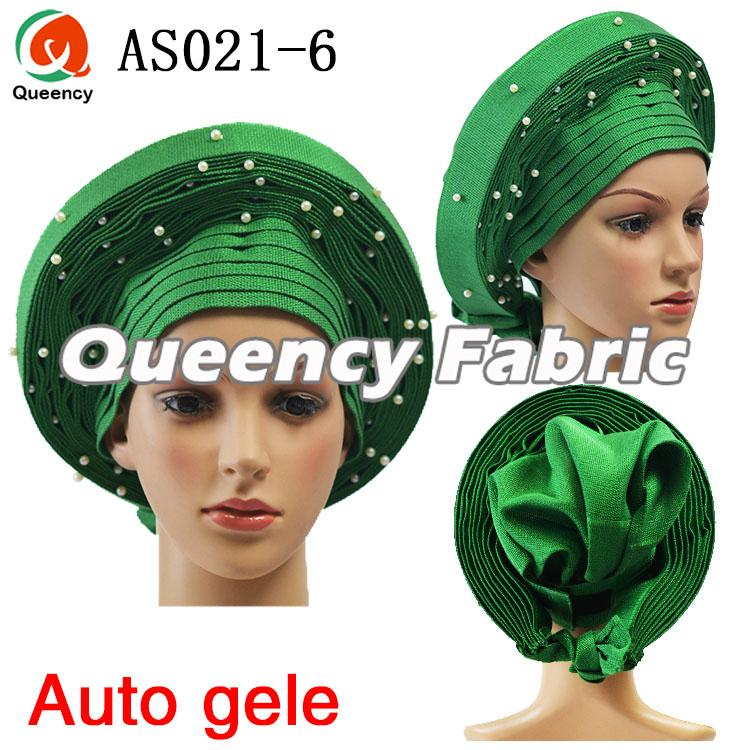 Green Aso Oke Already Tie Headtie