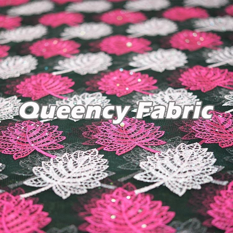 African French Net Lace Embroidery