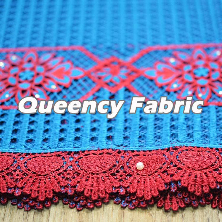 Guipure Beaded Lace Fabric
