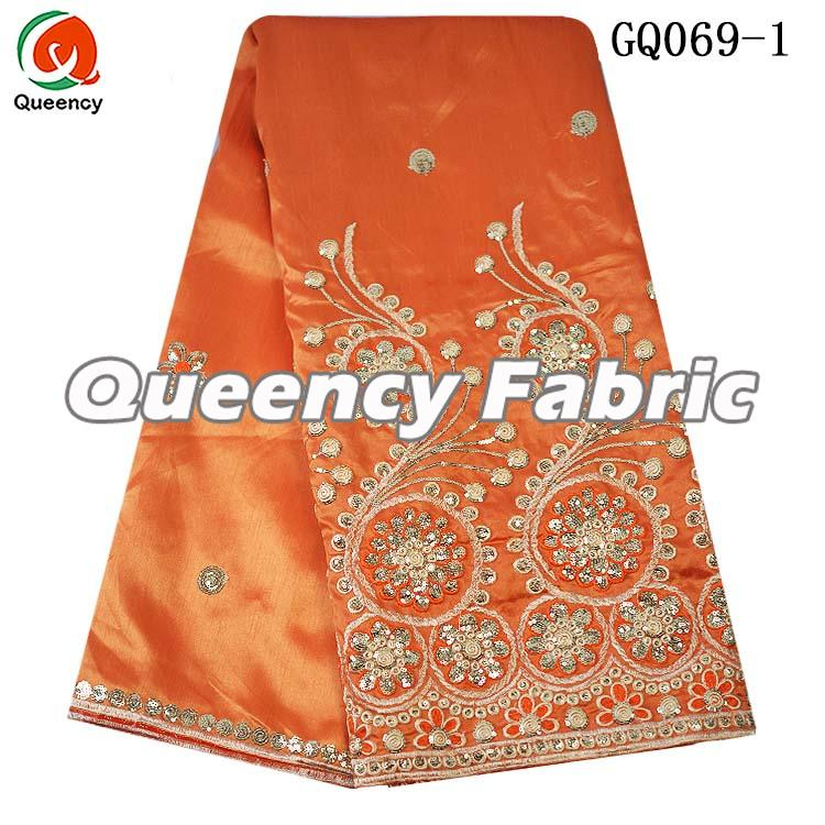 African George Fabric In Orange