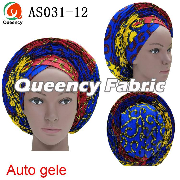 African Ladies Auto Gele Head Tie Hat