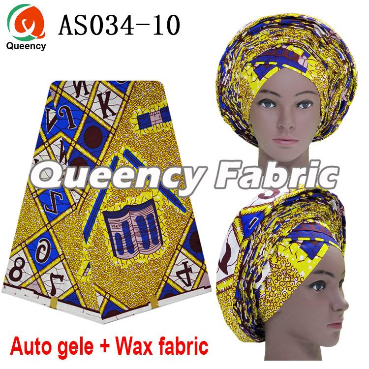 African Ankara Auto Gele With Wax