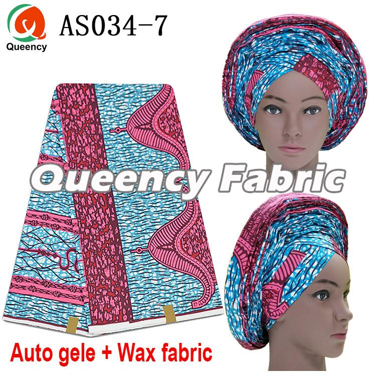 Ankara Auto Gele With Wax 6 Yards