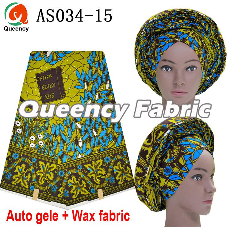 Ankara Auto Gele Match Wax Fabric 6 Yards