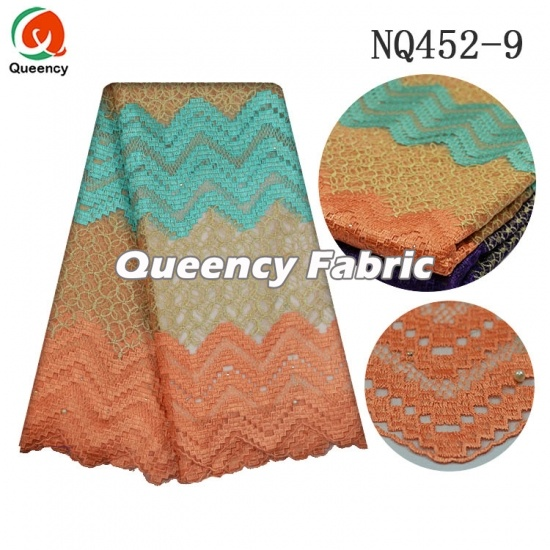 Nigeria Tulle Beaded Lace Soft Embroidery Fabric
