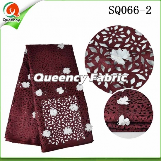 Swiss Voile Beaded Applique Laser Lace