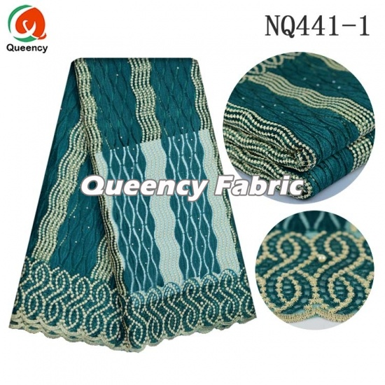 Nigeria Tulle Fabric Chantilly Netting Embroidery