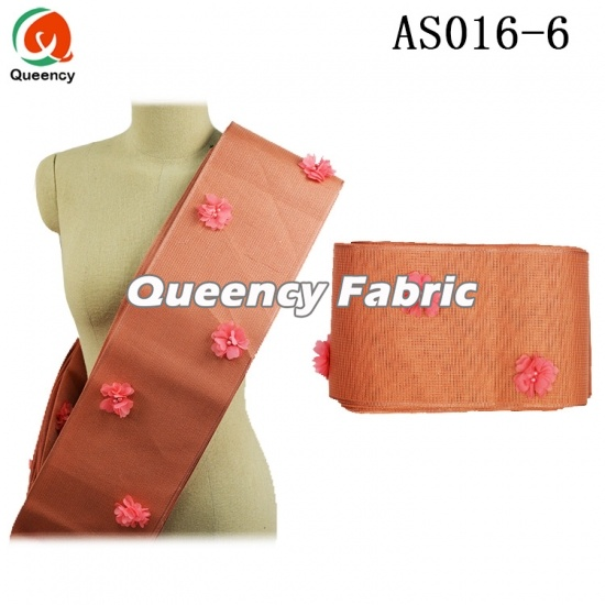 Aso Oke Head Scarf With Applique