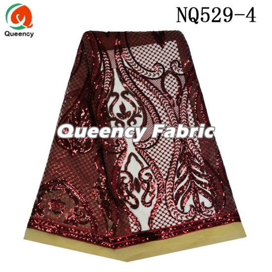African Heavy Sequins Lace Tulle Embrodiery