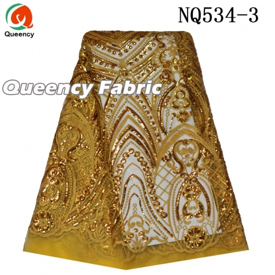 Nigeria French Sequins Embroidered Lace Fabric