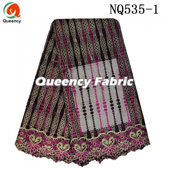 Wholesale French Lace Embroidery Cotton Material