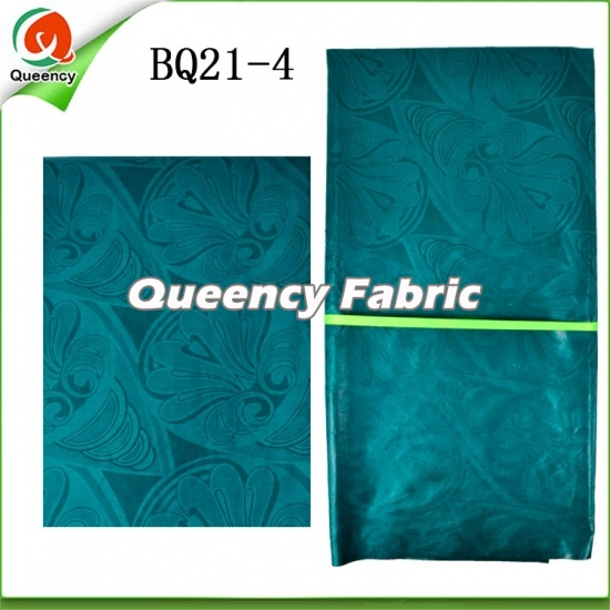 Fashion African Bazin Brocade Embroidered Dresses Fabric