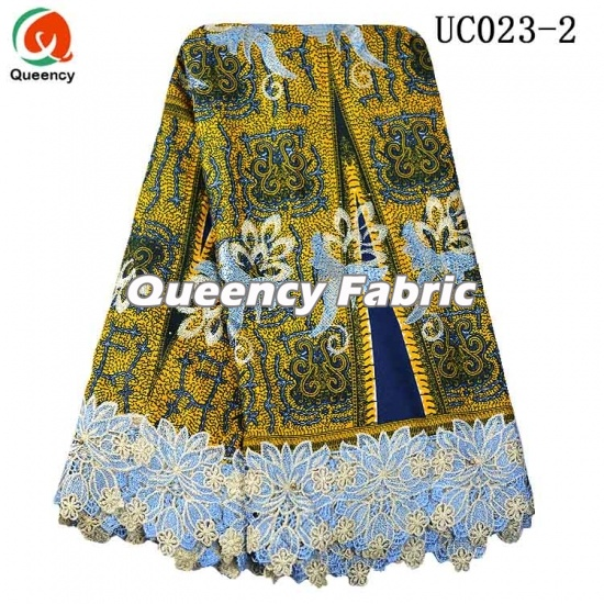African Wax Lace Prints Embroidered Fabric