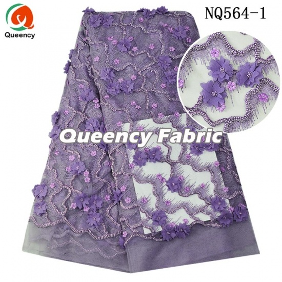 African Handmade French Tulle Lace Embroidery