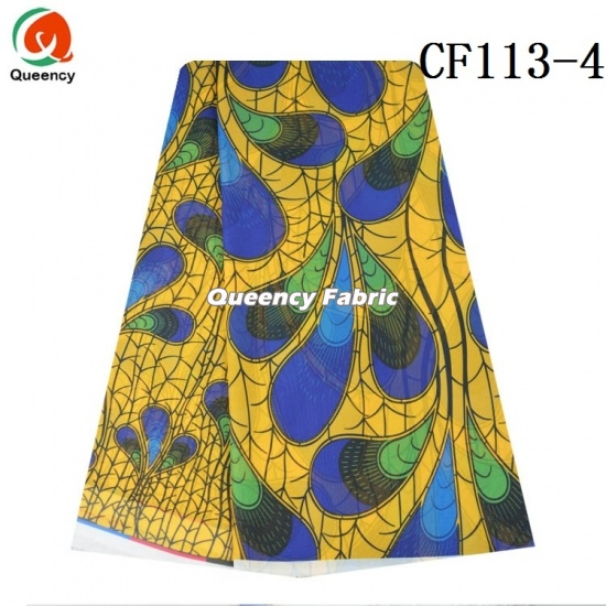 African Traditional Printed Chiffon Fabric
