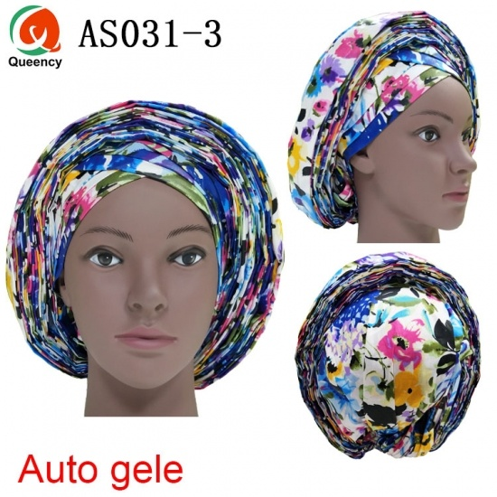 Queency African Ankara Auto Gele Already Tied Headtie