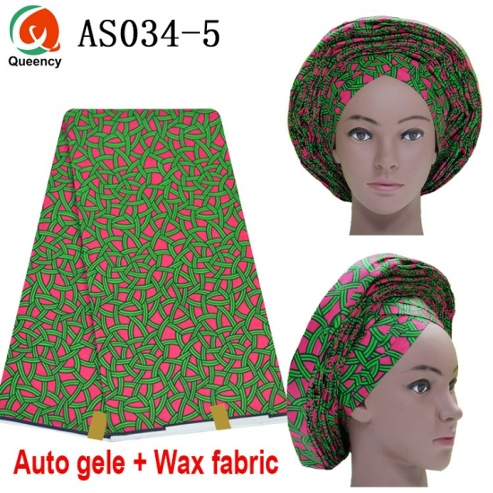 Already Made Auto Gele Headtie Match Wax Set
