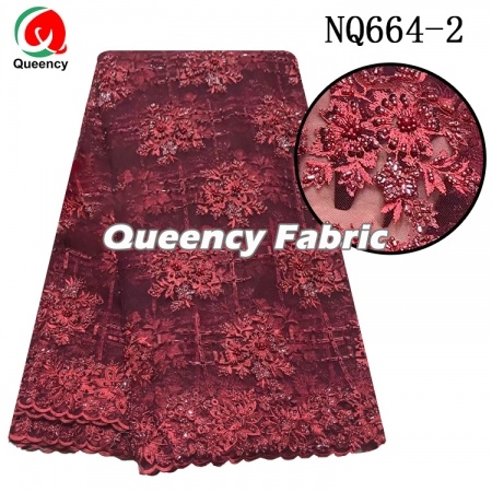 Nigeria Wedding Beads Tulle Lace