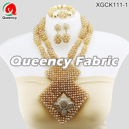 Beaded Gold Plated Jewelry Set